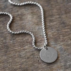 שרשרת חריטה לגבר - שרשרת כסף לגבר - שרשרת עמידה במים - תכשיטים לגבר - גליס תכשיטים - מתנה לגבר