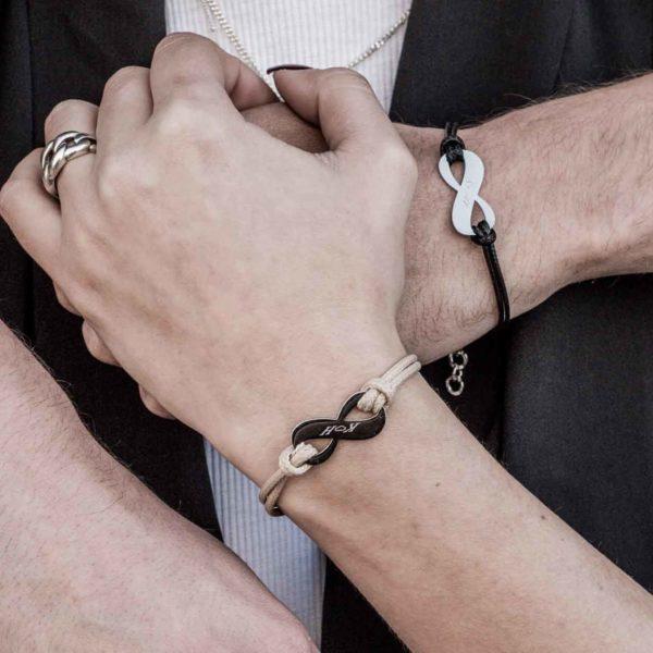 צמידים לגבר - צמיד לבן זוג - מתנה לבן זוג - מתנה לחבר - צמידים לזוגות - גליס תכשיטים